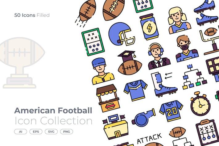 Thumbnail for Amerikanischer Fußball gefüllte Ikone