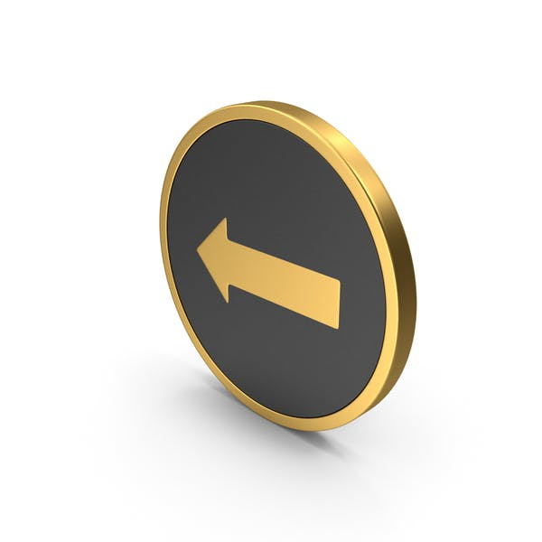 Gold Icon Arrow