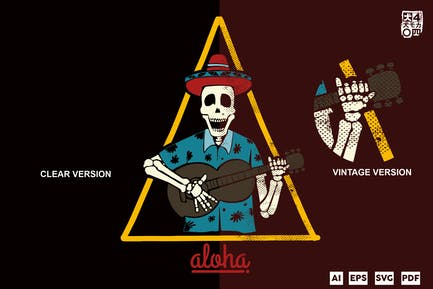 Aloha Skelett Party