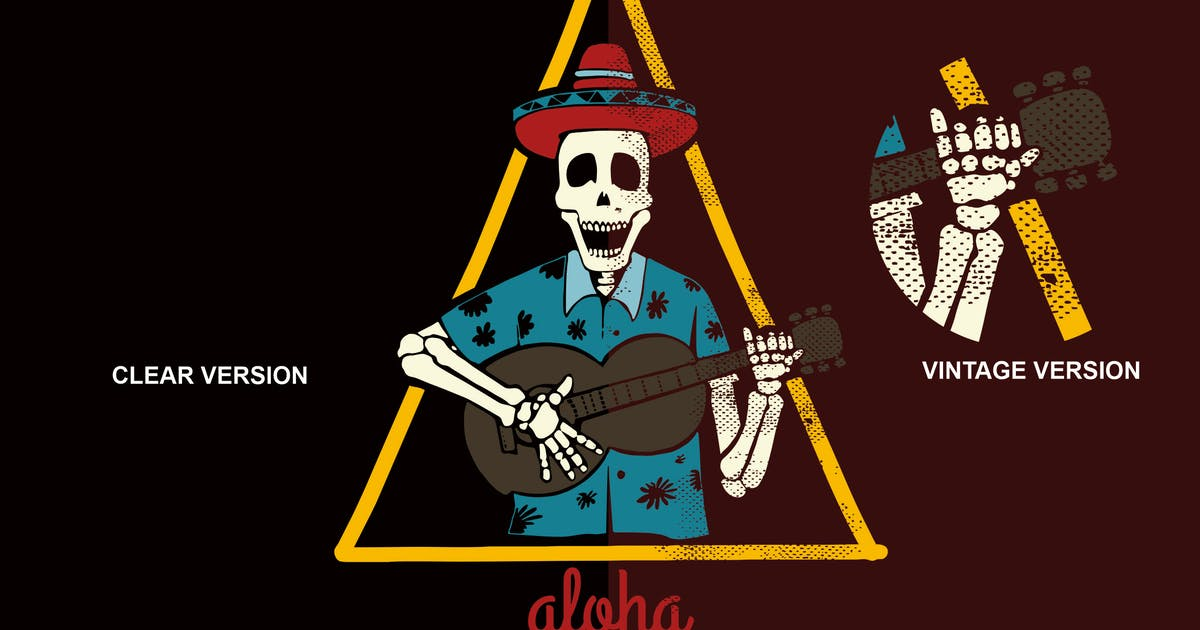 Download aloha skeleton party by inumocca