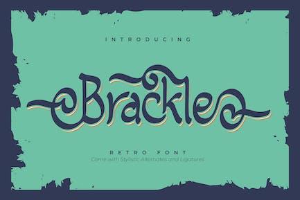 Brackle | Retro Font