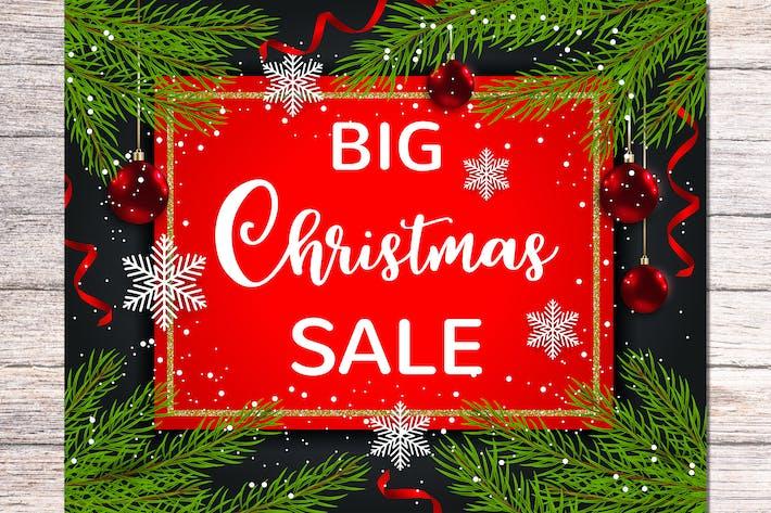 Thumbnail for Seasonal Christmas Sale Background