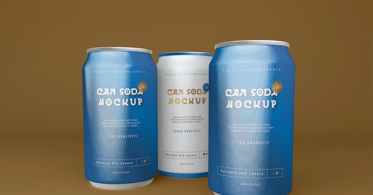 Download Soda Can Mockup by megostudio