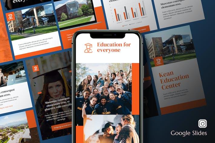 Thumbnail for Kean - Education Instagram Kit Google Slides
