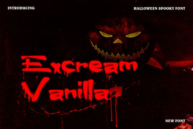 Excream Vanilla Halloween Font