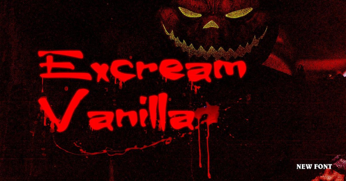 Download Excream Vanilla Halloween Font by ovozdigital