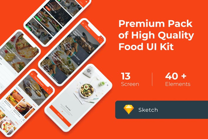 Thumbnail for Food Cooking Recipes UI KIT for Sketch