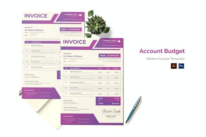 Account Budget Invoice