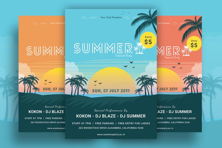 Thumbnail for Summer Beach Party Flyer-04