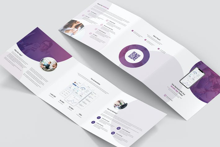 Thumbnail for Brochure – Creative App Tri-Fold Square