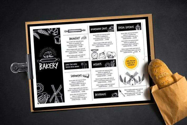 Thumbnail for Bakery Menu Template