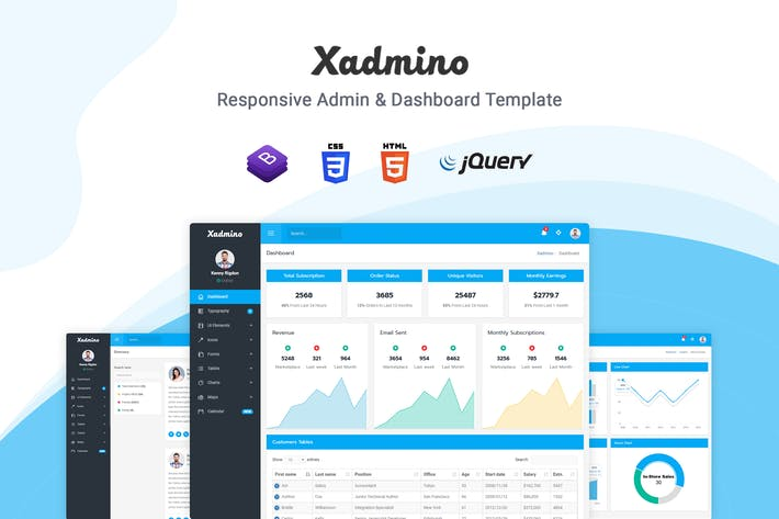 Thumbnail for Xadmino - Admin & Dashboard Template