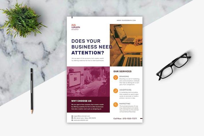 Thumbnail for Branding Agency Flyer