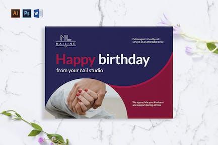 Nail Studio Shop Greeting Card