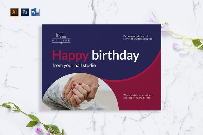 Nail Studio Shop Greeting Card