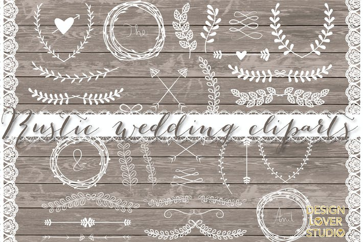 Thumbnail for VECTOR Laurels, Flower, Wedding clipart