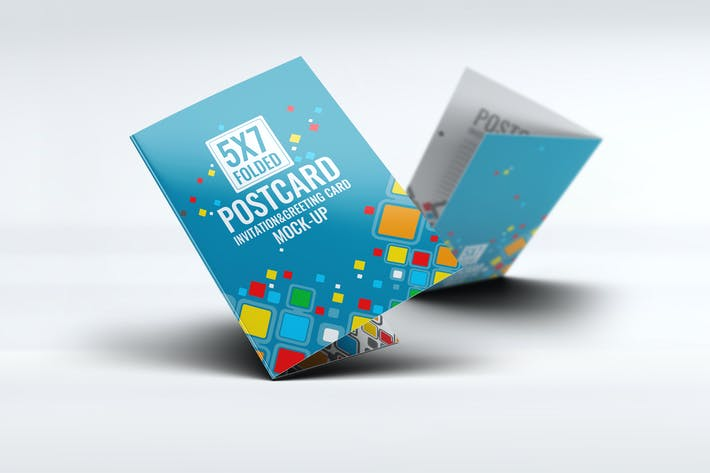 Thumbnail for Postcard Invitation Greeting Card Mock-Up V.2