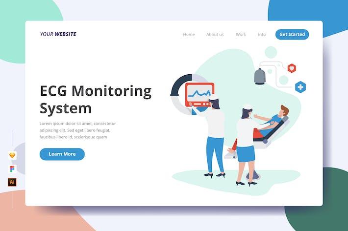 Thumbnail for ECG Monitoring System - Landing Page