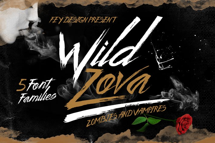Thumbnail for Wild Zova - Brush Font