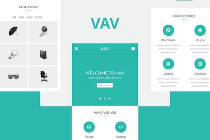 VAV - Clean Mobile Vorlage
