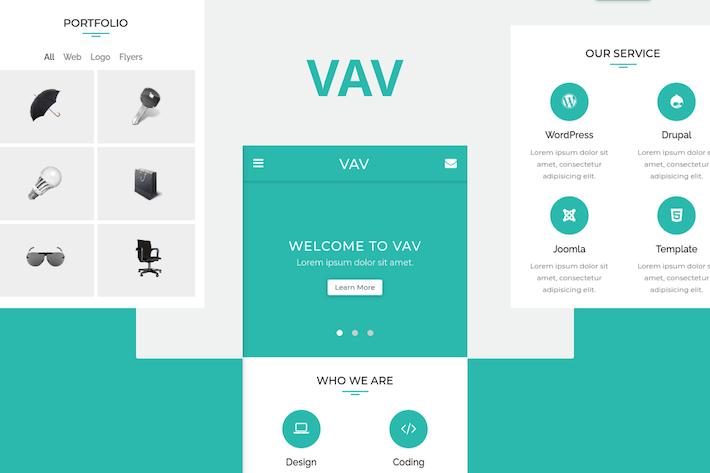 Thumbnail for VAV - Clean Mobile Template
