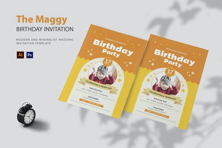 Thumbnail for Maggy Happy - Birthday Invitation