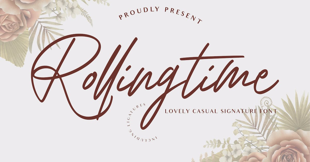 Download Rolling Time Elegant Signature by typecoconut