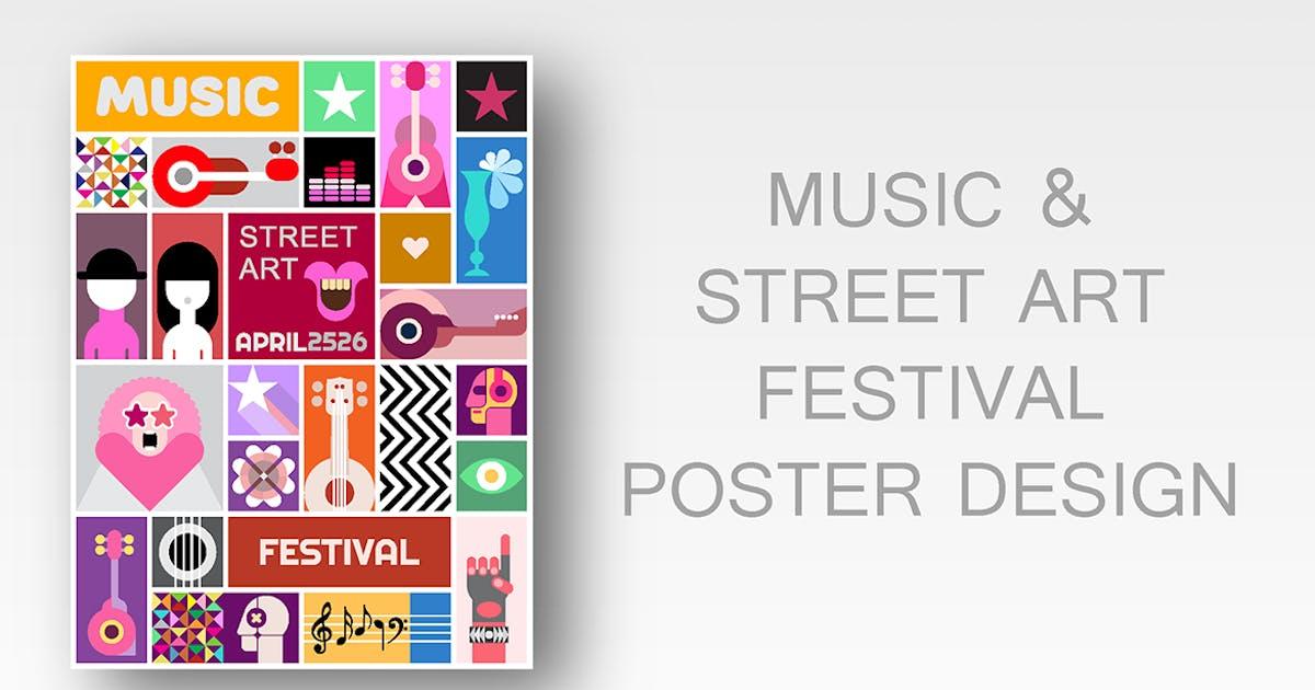 Street Art Poster Vector Template Design by danjazzia