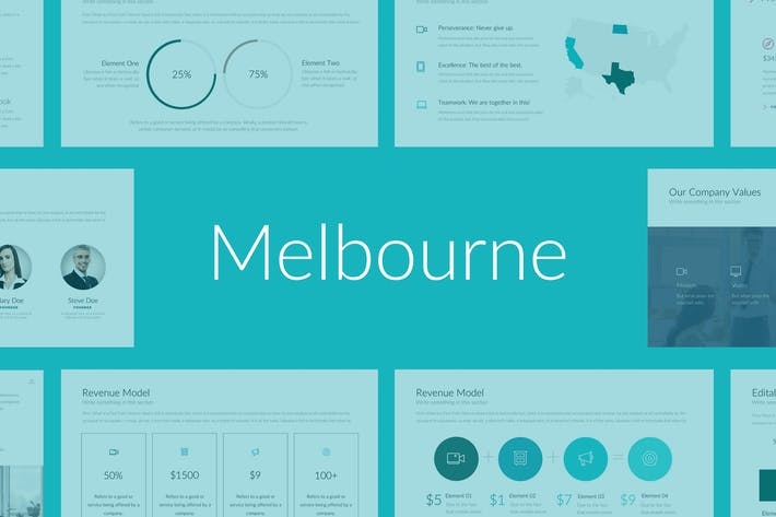 Thumbnail for Melbourne Professional PowerPoint Vorlage