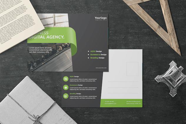 Digital Agency - Postcard Design