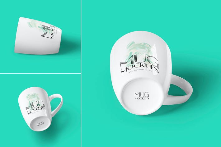 Cover Image For 3 Ceramic Mug Mockups