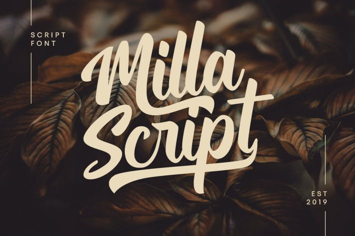 Cover Image For Milla - Script Font
