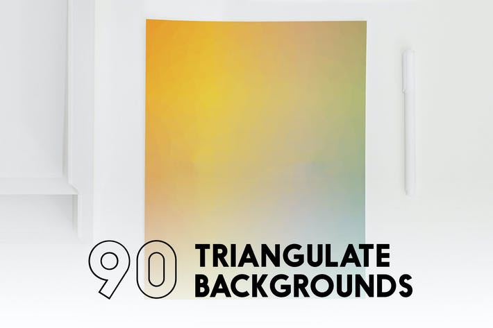 Cover Image For 90 Triangulate Backgrounds