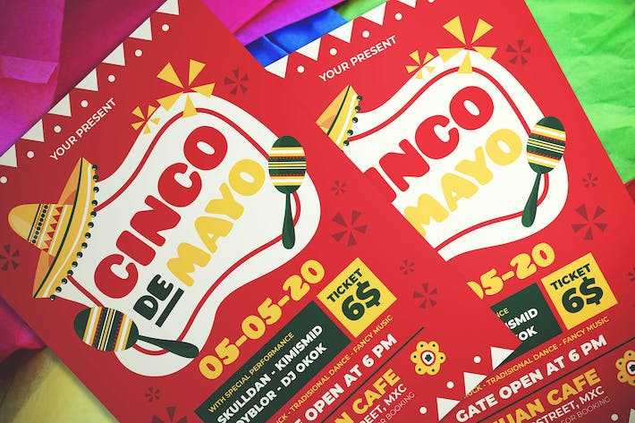 Thumbnail for Cinco De Mayo Party Flyer