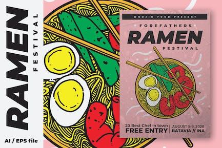 Ramen Food Festival Poster Flyer