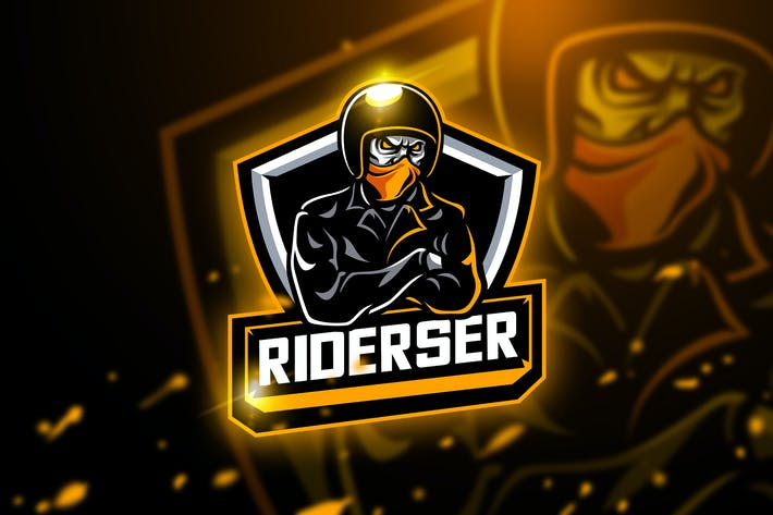 Thumbnail for Riderser - Mascot & Esport logo