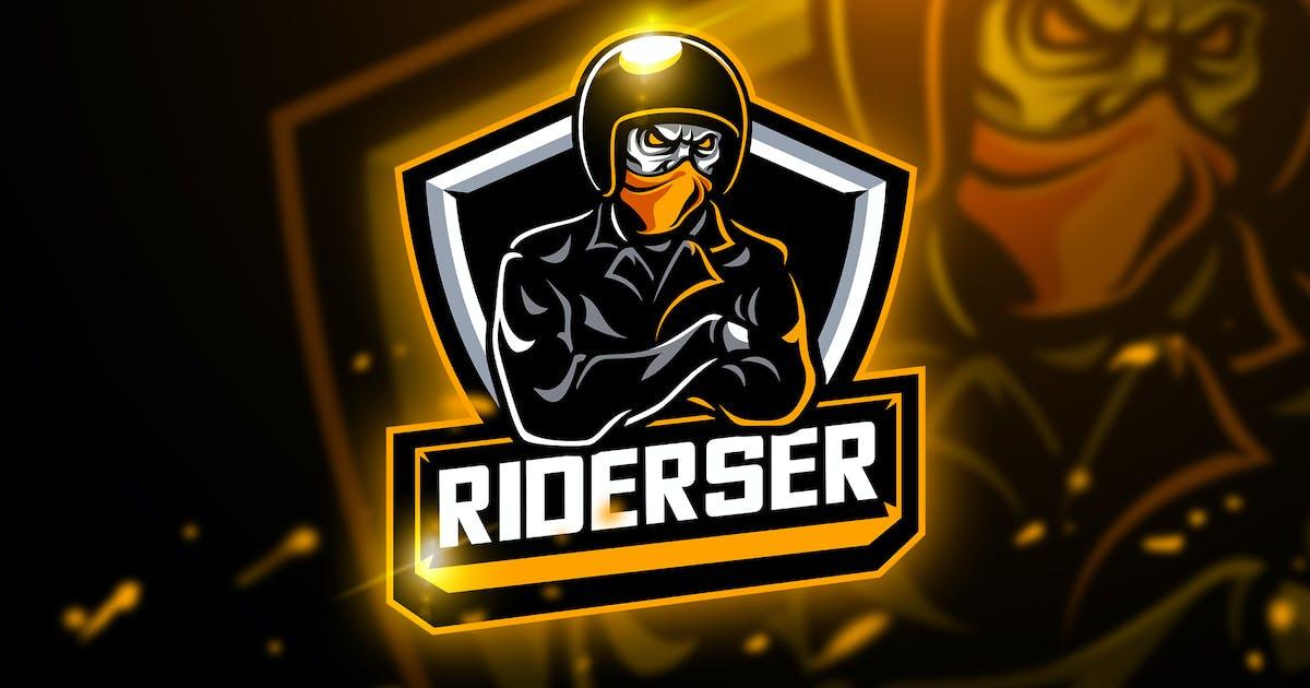 Riderser - Mascot & Esport logo by aqrstudio