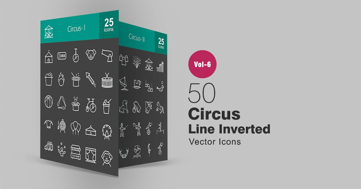 50 Circus Line Inverted Icons by Unknow