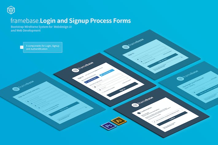 Thumbnail for Bootstrap Login & Registration Form