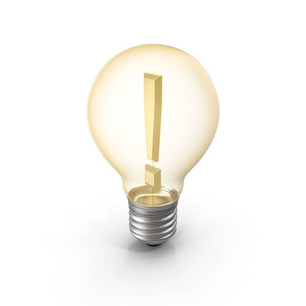 Lightbulb Exclamation Mark
