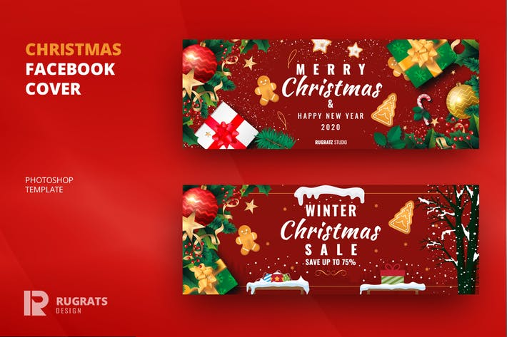 Thumbnail for Christmas R1 Facebook Cover & Banner