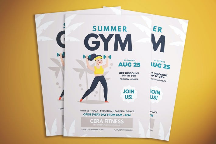 Thumbnail for Summer Gym Flyer