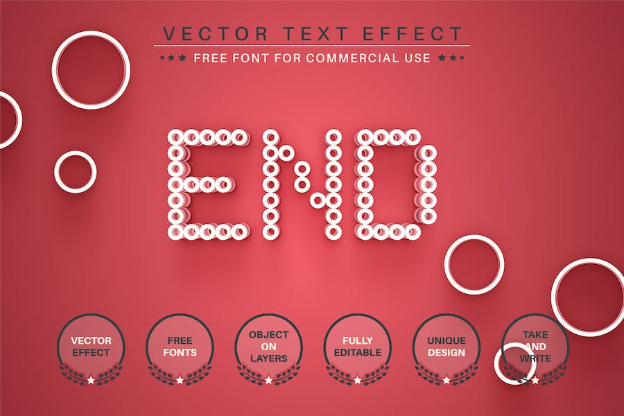 Red Dot -  Editable Text Effect, Font Style