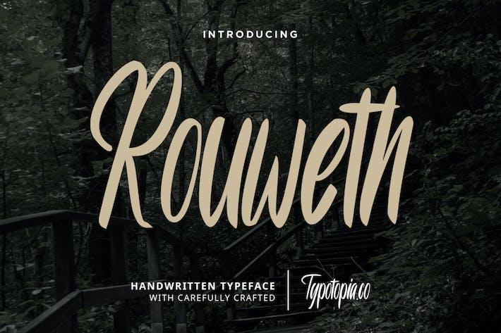 Tipo de letra manuscrita Rouweth