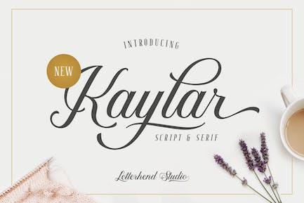 Kaylar - Guión elegante y Con serifa