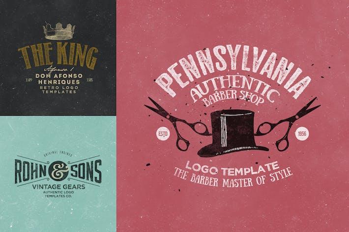 Thumbnail for Retro Logo Templates V.10