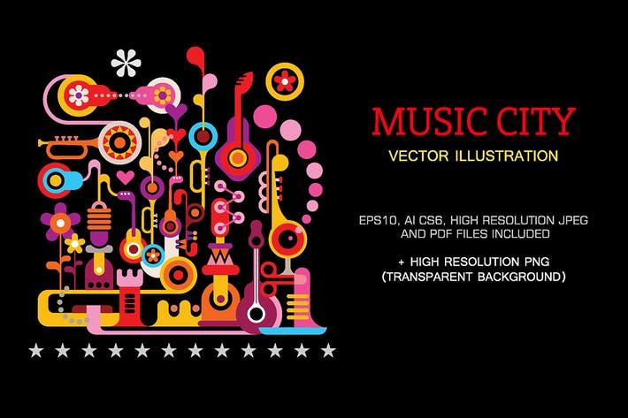 Thumbnail for Music City vector llustration