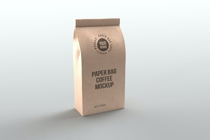 Thumbnail for Paper Bag Coffee Product Mockups