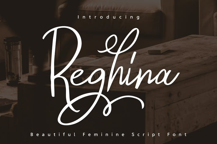 Thumbnail for Reghina - Beautiful Feminine Script Font