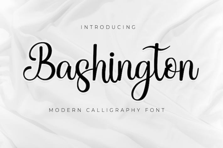 Thumbnail for Bashington - Fuente de caligrafía dulce